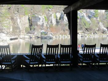 View from the Parlor wing porch overlooking Lake Mohonk