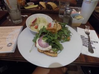 Grilled Chicken Caesar Waffle Sandwich